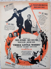 Three Little Words (1950) - Fred Astaire - Vintage Trade Ad